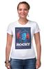 """Футболка Стрэйч (Женская) """"Rocky / Рокки"""" - бокс, сталлоне, рокки, rocky, kinoart"""