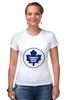 """Футболка Стрэйч """"Торонто Мэйпл Лифс """" - хоккей, nhl, нхл, toronto maple leafs, торонто мэйпл лифс"""