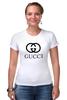 """Футболка Стрэйч """"GUCCI"""" - gucci"""