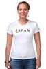 """Футболка Стрэйч (Женская) """"Japan"""" - аниме, япония, japan"""