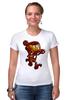 "Футболка Стрэйч (Женская) ""Бомбермэн (Bomberman)"" - железный человек, iron man"
