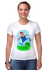 "Футболка Стрэйч (Женская) ""Марио (Mario)"" - nintendo, mario, марио"