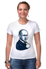 "Футболка Стрэйч ""Путин - like"" - россия, путин, like, президент, putin"