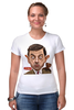 "Футболка Стрэйч (Женская) ""Mr.Bean"" - мистер бин, mr bean, актёр, роуэн аткинсон, rowan atkinson"