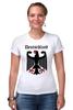 """Футболка Стрэйч """"Германия"""" - страны, герб, символика, германия"""