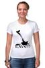 "Футболка Стрэйч (Женская) ""Raven Brand"" - ворон, raven, raven brand, бренд ворон"