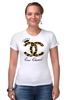 "Футболка Стрэйч (Женская) ""Chanel"" - духи, бренд, fashion, коко шанель, brand, coco chanel, шанель, perfume, karl lagerfeld, карл лагерфельд"