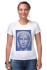 """Футболка Стрэйч (Женская) """"The Icon"""" - арт, портрет, russia, мозаика, путин, президент, putin, president, икона, the icon"""