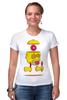 "Футболка Стрэйч (Женская) ""Гомер Симпсон (Homer Simpson)"" - гомер симпсон, пончик, the simpsons, donut"
