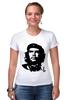 """Футболка Стрэйч (Женская) """"Viva la revolucion!"""" - че, че гевара, che, революционер, che guevara"""