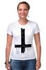 """Футболка Стрэйч (Женская) """"Крест"""" - крест, cross, атеизм"""