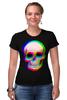 """Футболка Стрэйч """"Череп 3D"""" - skull, череп, абстракция, 3d"""