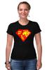 """Футболка Стрэйч (Женская) """"Суперженщина"""" - супермен, супервумен, русская женщина"""
