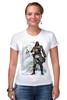 "Футболка Стрэйч (Женская) ""Assassin's creed IV Black flag"" - игра, assassins creed, пираты, pc, геймер, black flag, assassin's creed, эдвард кенуэй, корсары, компьютерные"
