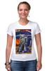 """Футболка Стрэйч (Женская) """"Bad Robot"""" - red, винтаж, robot, робот, иллюстрация, blue, vintage, журнал, обложка"""