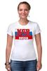 """Футболка Стрэйч """"KGB - Russia"""" - russia, кгб, путин, россия, kgb"""