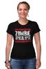 """Футболка Стрэйч (Женская) """"Zombie Apocalypse"""" - zombie, зомби, апокалипсис, apocalypse"""