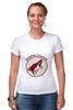 "Футболка Стрэйч (Женская) ""Arizona Coyotes"" - спорт, хоккей, nhl, нхл, аризона койотс"