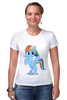 "Футболка Стрэйч ""Rainbow Dash"" - pony, mlp, rainbow"