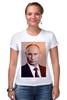 """Футболка Стрэйч (Женская) """"Путин-Арт"""" - россия, путин, президент, кремль, ввп"""