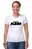 """Футболка Стрэйч (Женская) """"KTM moto"""" - motorcycle, bikes, ktm"""