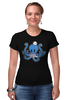 """Футболка Стрэйч (Женская) """"Осьминог Морячок"""" - octopus, осьминог, sailor, моряк, тельняшка"""