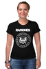 """Футболка Стрэйч (Женская) """"Ramones"""" - punk, панк, ramones, рамонес, joey ramone"""