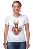 "Футболка Стрэйч (Женская) ""фараон тч"" - dog, собака, олдскул, розы, фараон, roses, дог, tm kiseleva, фараонова собака"