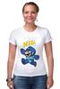 """Футболка Стрэйч (Женская) """"Super Mario (Mega Man)"""" - nintendo, марио, mario bros"""
