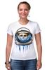 """Футболка Стрэйч (Женская) """"Dead Astronaut"""" - skull, череп, космос, astronaut, dead, cosmos, шлем, космонавт"""