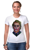 "Футболка Стрэйч (Женская) ""Джокер"" - комикс, joker, джокер, супергерои, бэтмен"