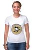 """Футболка Стрэйч """"Питтсбург Пингвинз """" - хоккей, nhl, нхл, питтсбург пингвинз, pittsburgh penguins"""