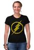 """Футболка Стрэйч """"Флэш (The Flash)"""" - flash, молния, флеш, dc"""