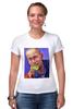 """Футболка Стрэйч (Женская) """"Путин"""" - москва, россия, сочи, путин, кремль"""