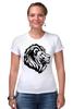 """Футболка Стрэйч (Женская) """"proud lion """" - лев, lion"""