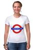 "Футболка Стрэйч (Женская) ""Underground"" - арт, стиль, рисунок, london, метро, uk, metro, метрополитен, подземка"