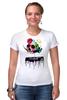"Футболка Стрэйч ""Череп Дали"" - skull, сальвадор дали, сюрреализм, salvador dali, сальвадор"