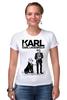 "Футболка Стрэйч ""Chanel"" - духи, бренд, fashion, коко шанель, brand, coco chanel, perfume, karl lagerfeld, карл лагерфельд, branding"