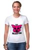 """Футболка Стрэйч (Женская) """"The Blind Pig #2"""" - прикол, супер, рисунок, pink, новое, свинья, blind, слепой, pig"""