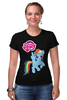 "Футболка Стрэйч ""my little pony"" - радуга, my little pony, пони, аниме, для детей"