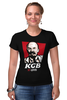 "Футболка Стрэйч ""KGB, So Good (Lenin)"" - lenin, ленин, kfc, кгб, kgb"