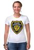 "Футболка Стрэйч (Женская) ""Police Department"" - полиция, police, gta, гта, liberty city, либерти-сити"