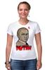"Футболка Стрэйч (Женская) ""Putin"" - россия, russia, путин, президент, putin"