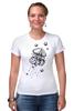 "Футболка Стрэйч ""Meduzz T2"" - море, графика, медуза, дотворк, jellyfish, tm kiseleva"