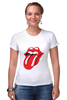 "Футболка Стрэйч (Женская) ""The Rolling Stone wear"" - рок-н-ролл, the rolling stones"