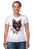 """Футболка Стрэйч (Женская) """"Пантера"""" - кот, кошка, пантера, black cat, panther, tm kiseleva"""