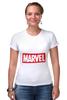 "Футболка Стрэйч (Женская) ""Marvel"" - комиксы, классная, крутая, marvel, spider man, марвел, железный человек, iron man, капитан америка, локи"