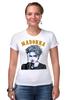"Футболка Стрэйч ""Madonna"" - музыка, madonna, мадонна, поп музыка, арт дизайн"