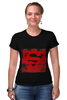 """Футболка Стрэйч (Женская) """"Superman """" - comics, супермен, комиксы, superman, герой, супермэн, dc, superhero, hero"""
