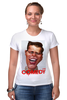 """Футболка Стрэйч (Женская) """"Comedy Club"""" - юмор, карикатура, камеди клаб, comedy club, гарик бульдог харламов"""